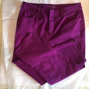 Chico's Purple Platinum Crop Pants